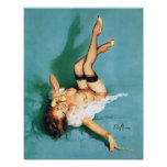 On the Phone - Vintage Pin Up Girl Poster