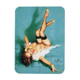 On the Phone - Vintage Pin Up Girl Flexible Magnets