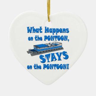 On the pontoon christmas ornament