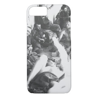 On the porch of an emergency hospital_War Image iPhone 7 Case
