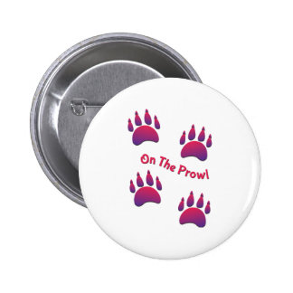 On the Prowl 6 Cm Round Badge