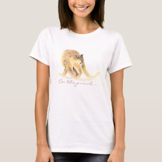 On the Prowl, Cougar Humor for Birthday T-Shirt