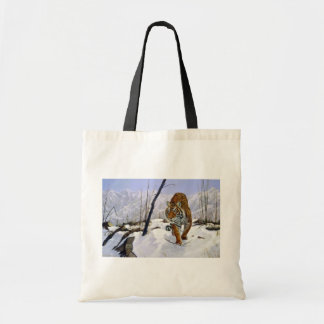 On the prowl, Siberian Tiger Budget Tote Bag