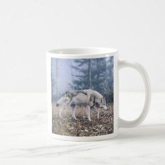 On the Prowl Timber Wolf Mug Mugs