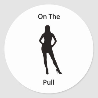 On the pull classic round sticker