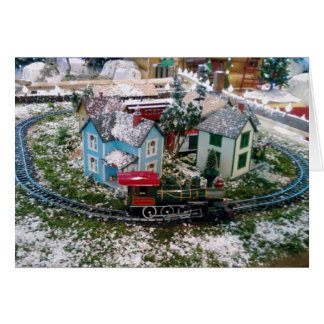 ON THE RIGHT TRACK=CHRISTMAS GREETING CARD