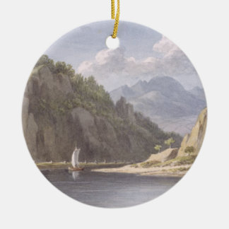 On the River Elbe, near Lowositz in Saxony, plate Christmas Ornament