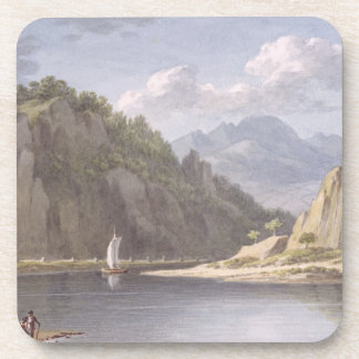 On the River Elbe, near Lowositz in Saxony, plate Coaster
