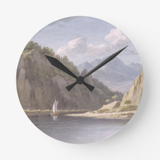 On the River Elbe, near Lowositz in Saxony, plate Wall Clocks