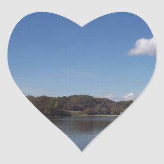 On the River Heart Sticker
