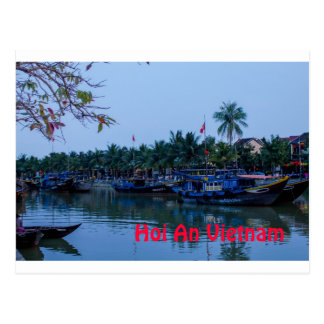 On the river Hoi An Vietnam Postcard