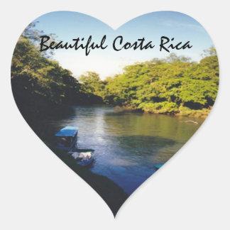 On the River in Beautiful Costa Rica Heart Sticker