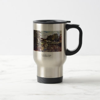 On The River In Polling By Duveneck Frank Coffee Mugs