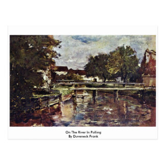On The River In Polling By Duveneck Frank Postcard