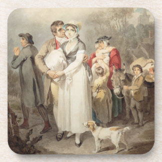 On The Road, 1799 (w/c over traces of pencil on pa Coaster