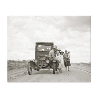 On The Road, 1937. Vintage Photo Canvas Print