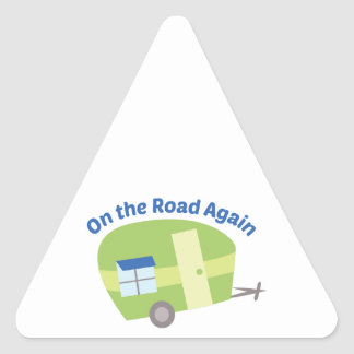 On The Road Again Triangle Sticker