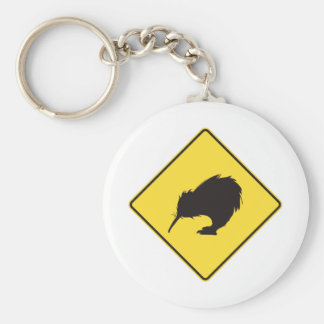 On the Road Basic Round Button Key Ring