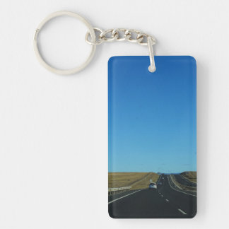 On the Road Double-Sided Rectangular Acrylic Key Ring