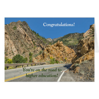 On the road to higher education; College bound Greeting Card