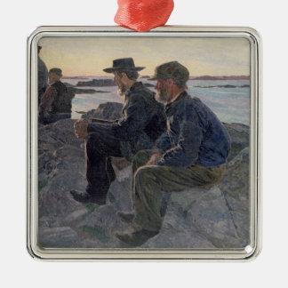 On the Rocks at Fiskebackskil, 1905-6 Christmas Ornament