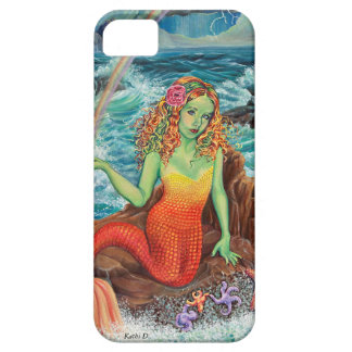 """On The Rocks"" Mermaid IPhone Case by Kathi Dugan Barely There iPhone 5 Case"