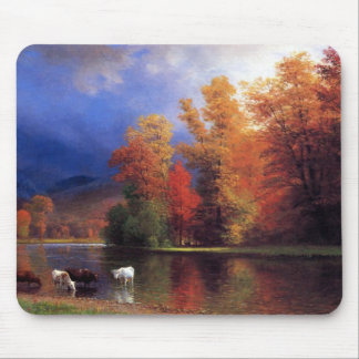 On the Saco - Albert  Bierstadt Mouse Mat