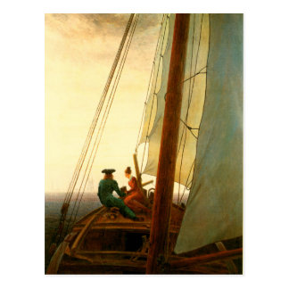 On The Sailboat Postcard
