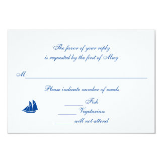 """On the Sea"" RSVP/Reply Cards 9 Cm X 13 Cm Invitation Card"