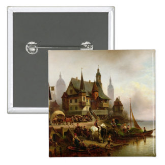 On the Shore, 1872 15 Cm Square Badge