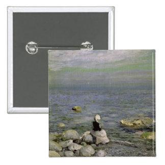 On the Shore of the Black Sea, 1890s 15 Cm Square Badge