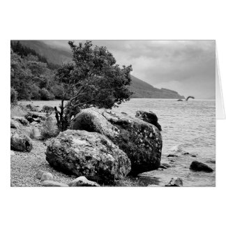 On the shores of Loch Ness with the monster Greeting Card