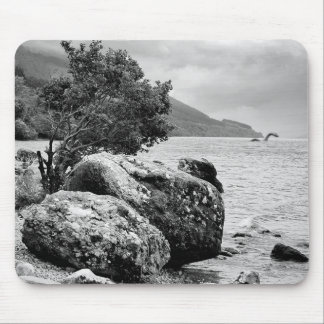 On the shores of Loch Ness with the monster Mouse Pad