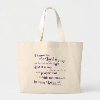 On the side of the right... tote bag