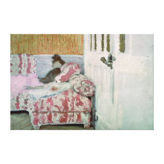On the Sofa, or The White Room Canvas Print