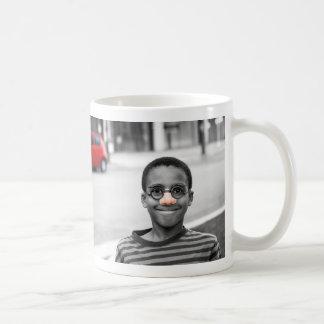 on the street clown basic white mug