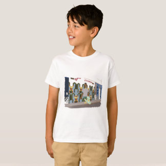 On the street, cute animals illustration T-Shirt