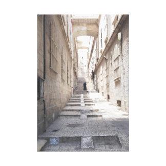 On the streets of Old City Jerusalem Canvas Prints