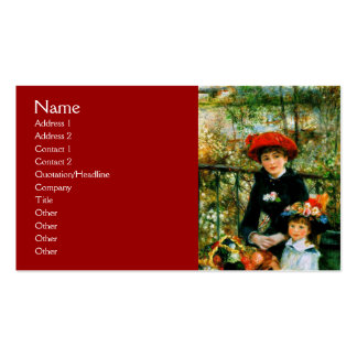 On the Terrace by Renoir Business Cards