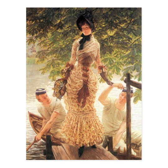 On the Thames by James Tissot Postcard