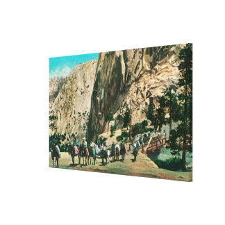 On the Trail to Nevada Falls, Glacier Point Canvas Print