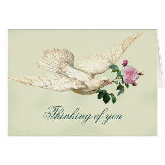 On the Wings of A Dove,  thinking of you, Card