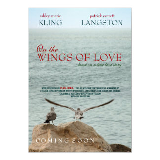 On the Wings of Love - Wedding Invitation