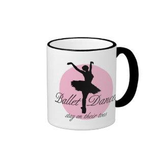 On Their Toes (Ballet) Ringer Mug