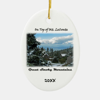 On Top of Mt. LeConte GSM Photo Art Christmas Ornament
