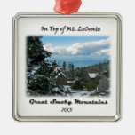 On Top of Mt. LeConte GSM Photo Art Christmas Tree Ornament