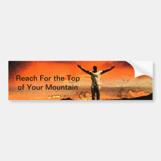 On Top of the Mountain Bumper Sticker