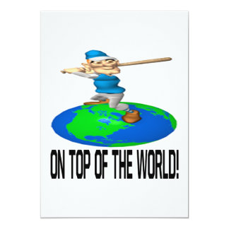 On Top Of The World 13 Cm X 18 Cm Invitation Card