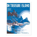 On Treasure Island Vintage Songbook Cover Post Cards