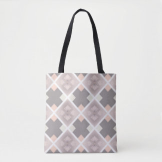 On trend Greige graphic tote